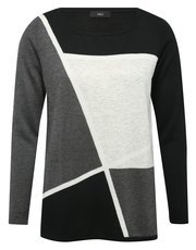 Colour block jumper