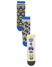 Emoji socks three pack