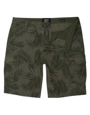 Tropical leaf cargo shorts