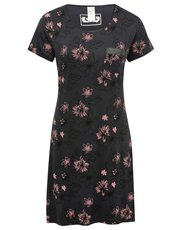 Pink floral print jersey night dress