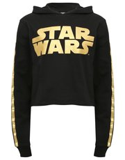 Star Wars cropped hooded sweater