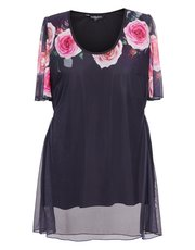 Scarlett and Jo plus valentine rose tunic top