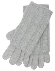 Cable knit mitten gloves