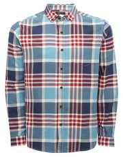Oxford check long sleeve shirt