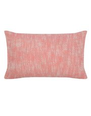 Coral herringbone cushion