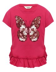 Embroidered Butterfly T-Shirt