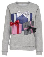 JDY Christmas bow jumper