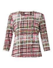Eastex highland check jersey top