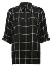 Plus longline check shirt