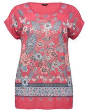 Plus floral paisley t-shirt