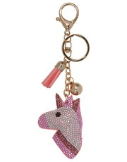 Teens' diamante unicorn keyring