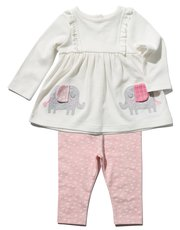 Elephant smock top and leggings set