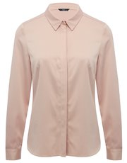Long sleeve satin shine shirt