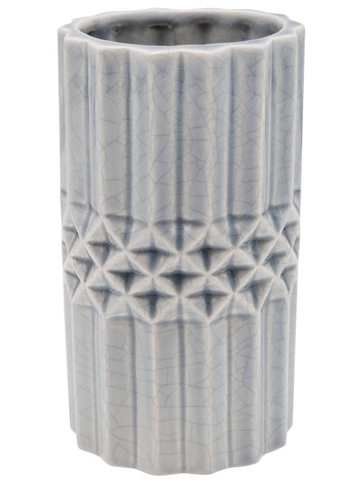 Pleat textured ceramic vase