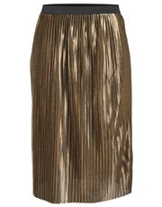 JDY gold pleated skirt