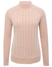 Cable knit curve hem jumper