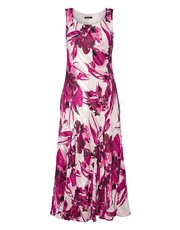 Roman Originals abstract floral bias print dress