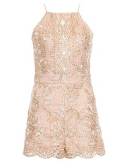 Quiz embroidered playsuit
