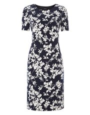 Roman Originals floral print all-over textured dress