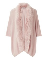 Jacques Vert Renee faux fur trim long cardigan