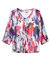 Dash watercolour bloom blouse