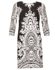 Izabel damask mono dress