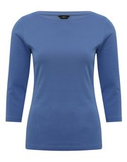 Plain three quarter length sleeve t-shirt