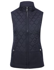 Quilted funnel neck gilet