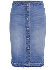 JDY button denim skirt