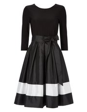Roman Originals contrast fit and flare dress with belt