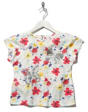 Sequin floral butterfly t-shirt