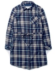 Brakeburn check print shirt dress