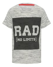 Rad slogan print t-shirt