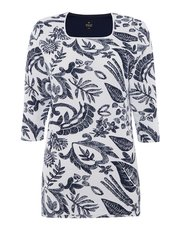 TIGI printed paisley tunic top