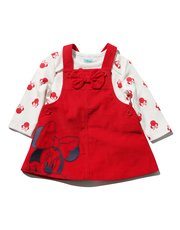 Minnie Mouse pinny dress and bodysuit set