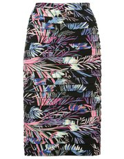 Tropical print shutter skirt