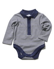 Stripe polo shirt bodysuit