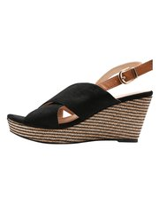 Stylish cross strap wedge