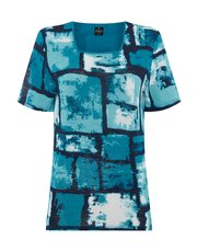 TIGI square block print top
