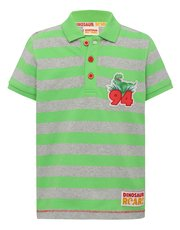 Dinosaur Roar stripe polo shirt
