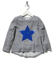 Two way sequin star spot print top
