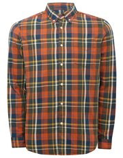 Check twill long sleeve shirt