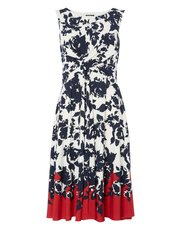 Roman Originals twist waist floral print dress