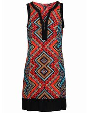 Izabel tribal shift dress