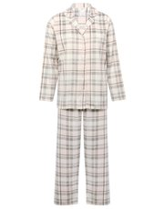 Check print fleece pyjamas