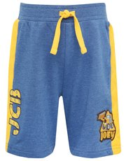 JCB quilted side badge shorts