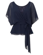 Jacques Vert lace and chiffon top