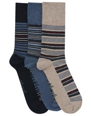 Gentle Grip stripe pattern sock