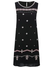 Petite embellished shift dress