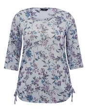 Plus floral print tie side top
